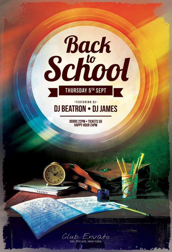 Back to School Flyer Pinterest Design posters, Flyer design - back to school flyers