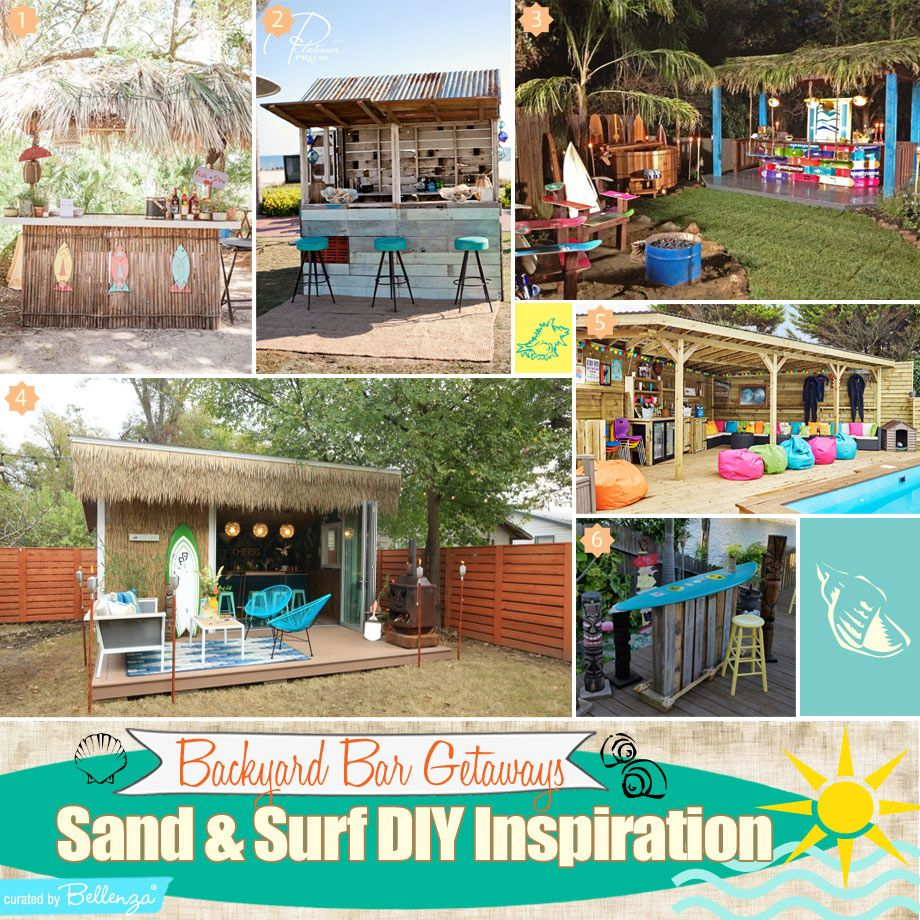 Surf Themed Backyard Bar Beach Getaways To Inspire You With