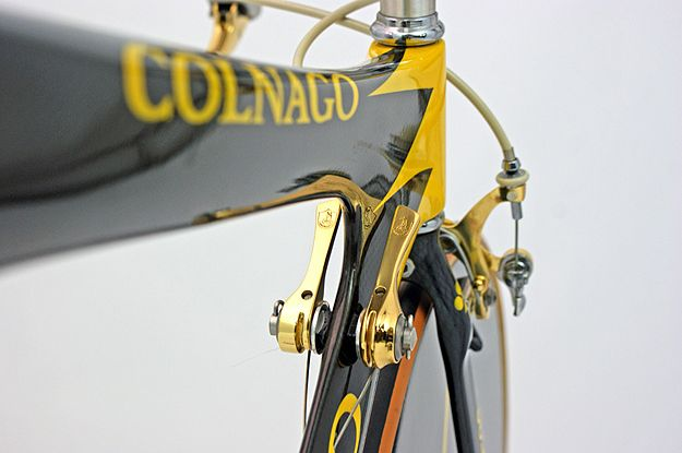 Colnago Crono Oro  Such a fanatic shot.  Might copy this angle on my bike