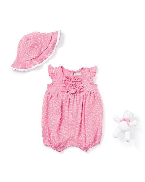 Pin Dot 3-Piece Gift Set - Baby Girl One-Pieces - RalphLauren.com