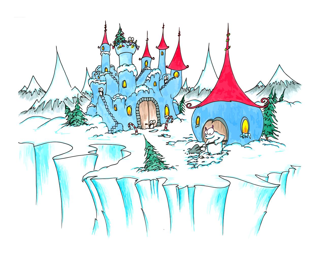 Королевство снежной королевы рисунки