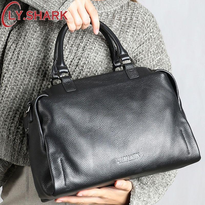 7fc4c8aaab2 LY.SHARK Shoulder Bag For Women 2018 Genuine Leather Bag Women ...