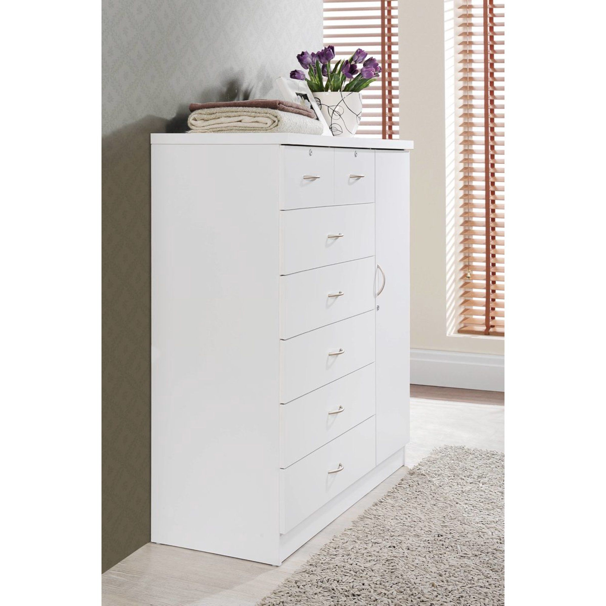 Hodedah 7 Drawer Dresser With Side Cabinet Equipped With 3 Shelves White Walmart Com In 2021 Drawers Side Cabinet Furniture Choice [ 2000 x 2000 Pixel ]