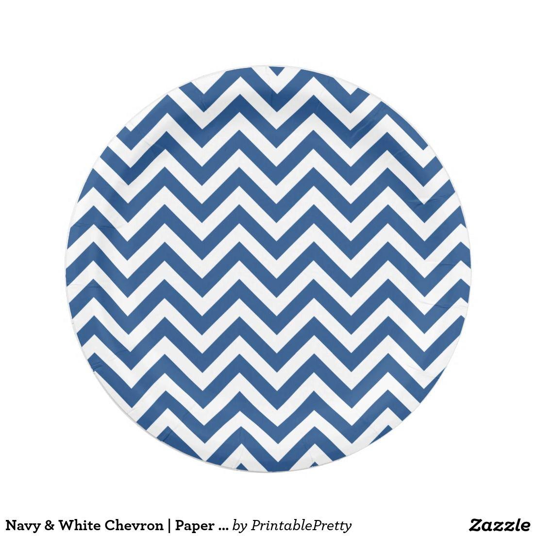 Navy Blue And Gold Chevron Pattern Paper Plates Zazzle  sc 1 st  10000+ Best Deskripsi Plate 2018 & Navy Blue And White Chevron Paper Plates - Best Plate 2018