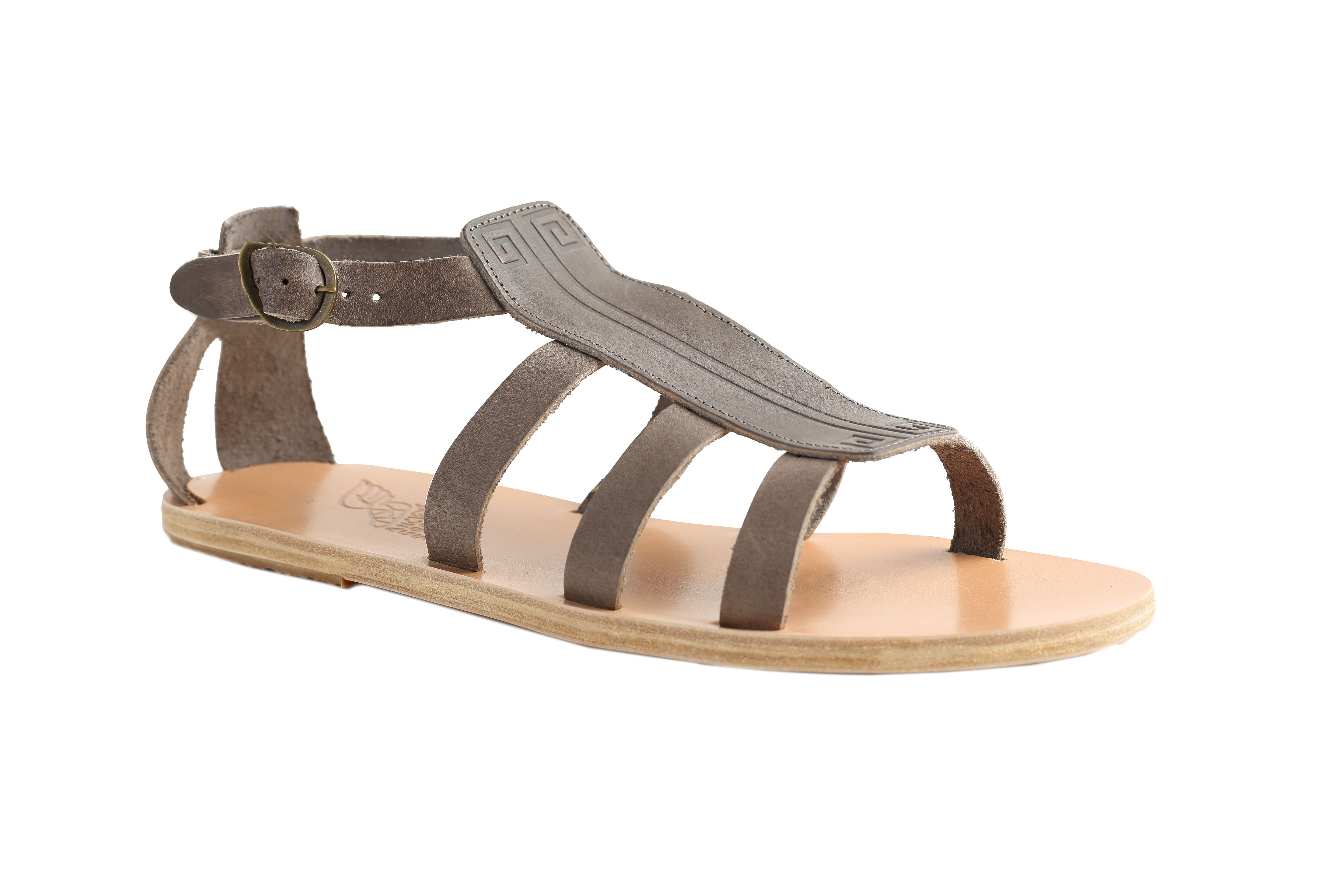 Ancient Greek Sandals Men' Dark Brown Pliombo Dionysos