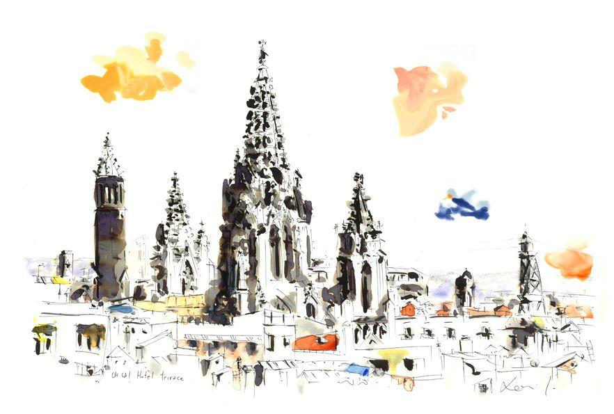 Vista desde la terraza del Oh La hotel Barcelona, Catedral. Xavi Julià