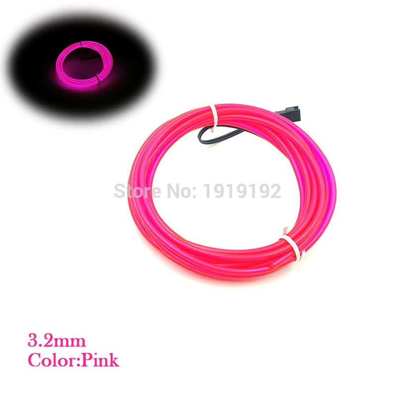 AC100-220V 5.0mm 20Meters 10 Colors Choice EL wire House Festival ...