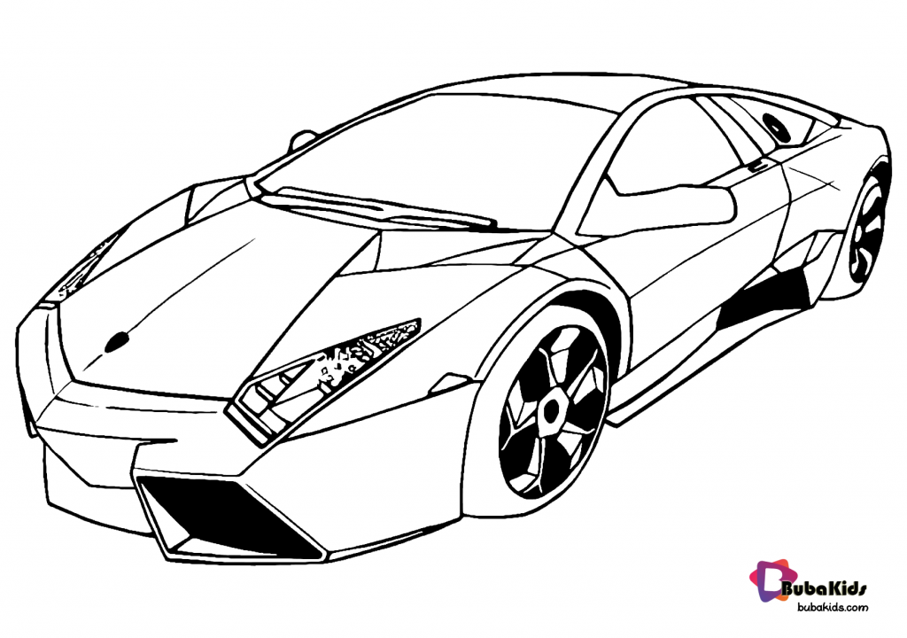 Free Download And Printable Super Car Coloring Page Bubakids Com In 2020 Cars Coloring Pages Coloring Pages Cartoon Coloring Pages