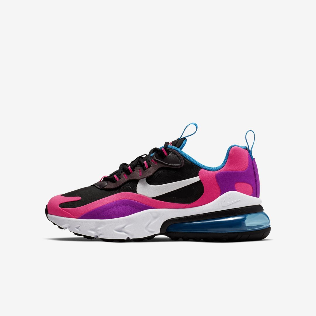 check out uk cheap sale 2018 sneakers Nike Air Max 270 React Big Kids' Shoe (Black) in 2019 | Nike ...