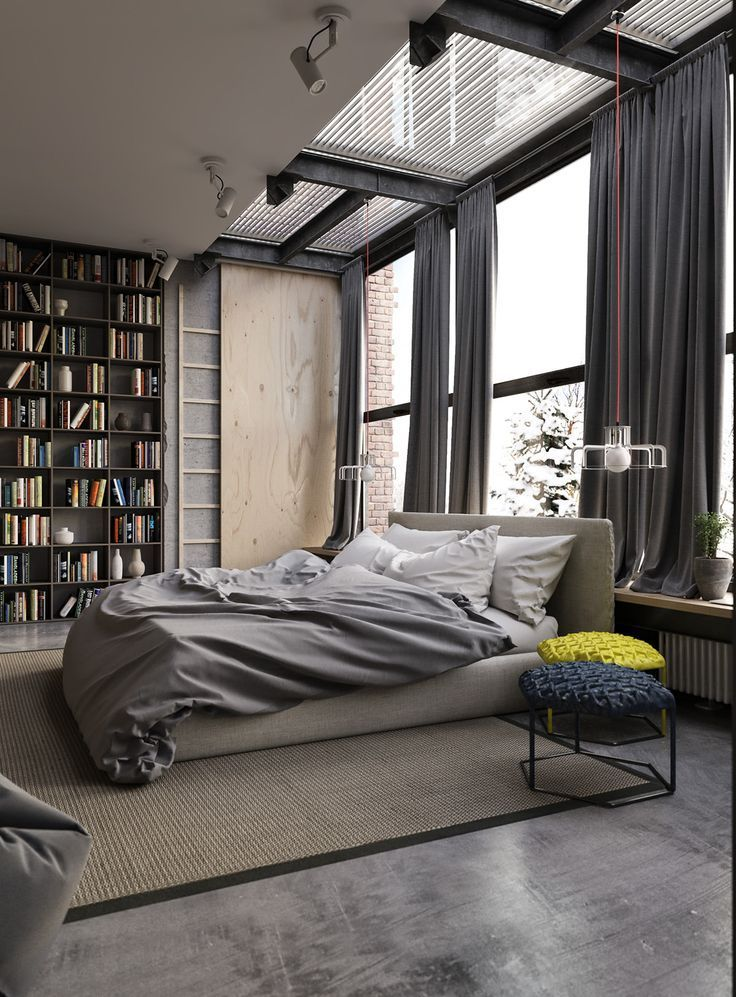 Industrial Room Design Ideas Part - 35: Cool In Cities Where Housing Space Is At A Premium, The Conversion Of  Industrial Spac · Bedroom DesignsBedroom IdeasMen ...