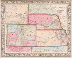 Map of #Kansas, #Nebraska, and #Colorado. Showing also the ...