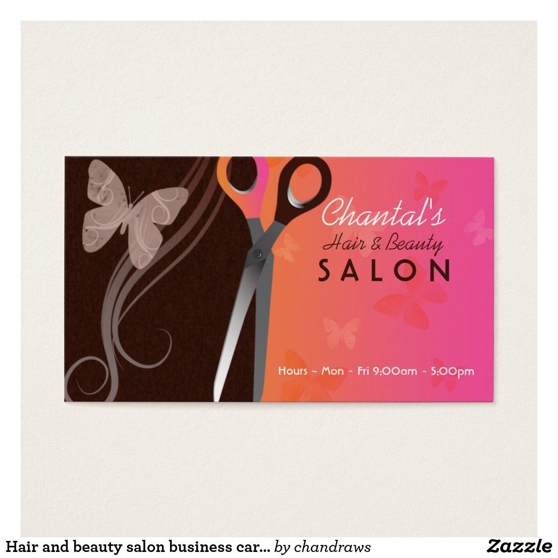 Hair And Beauty Salon Business Cards Zazzle Com Salon Business