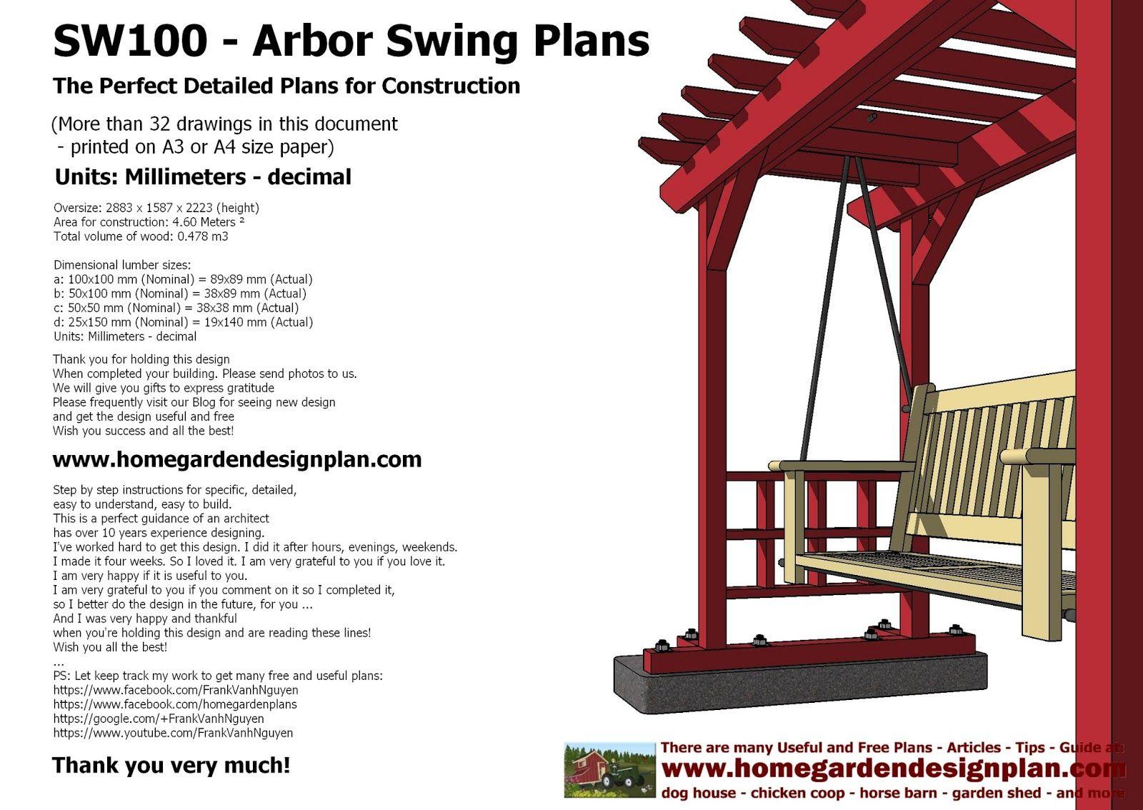Sw arbor swing plans construction graden swing plans arbor