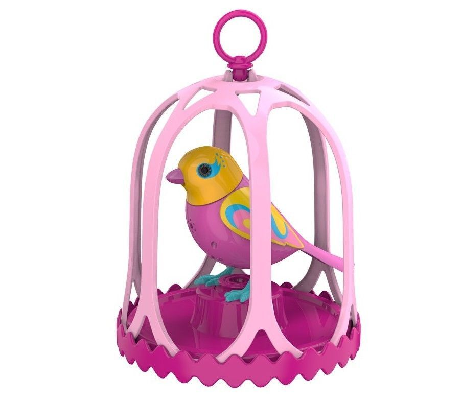 Digibird W Whistle Ring Bird Cage Electronic Pet Singing Tweeting Birds Juliet Silverlit Bird Cage Whistle Cage