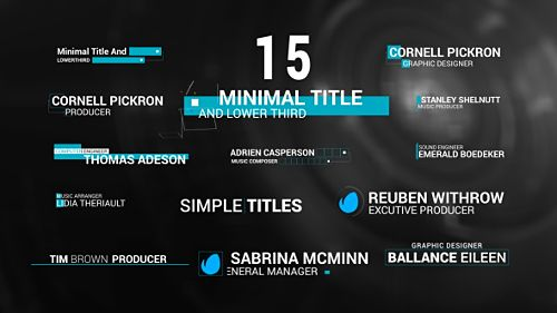 Download VideoHive 15 Minimal Lower Third Project For After Effects Free Thirds Template