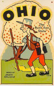 Vintage Ohio Decal Ohio The Buckeye State Ohio River