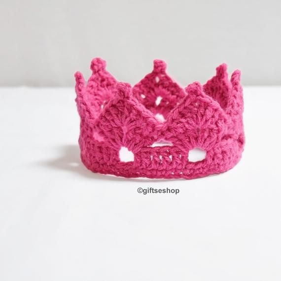 Crochet Crown Pattern-Tiara Headband- Crown Headband- Crown Pattern- Crochet Baby Crown Pattern n50 #crownheadband