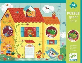 נימיגו, צעצועים, משחקים, יצירה, בובות, פאזלים, תינוקות, ילדים - פאזל אופטי-הבית