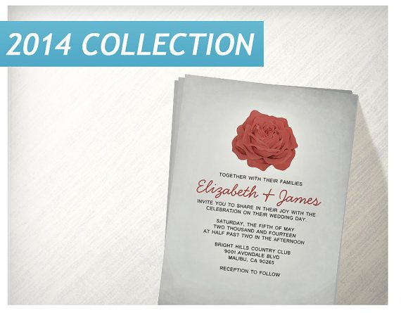 Trendy Floral Red and Black Wedding Invitations | Invites | Invitation Cards