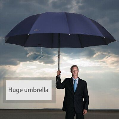 (Ad)eBay - 60 Men Women Hugh Umbrella 3 Folding Big Umbrella Windproof Suit 2-3 People New #bestumbrella