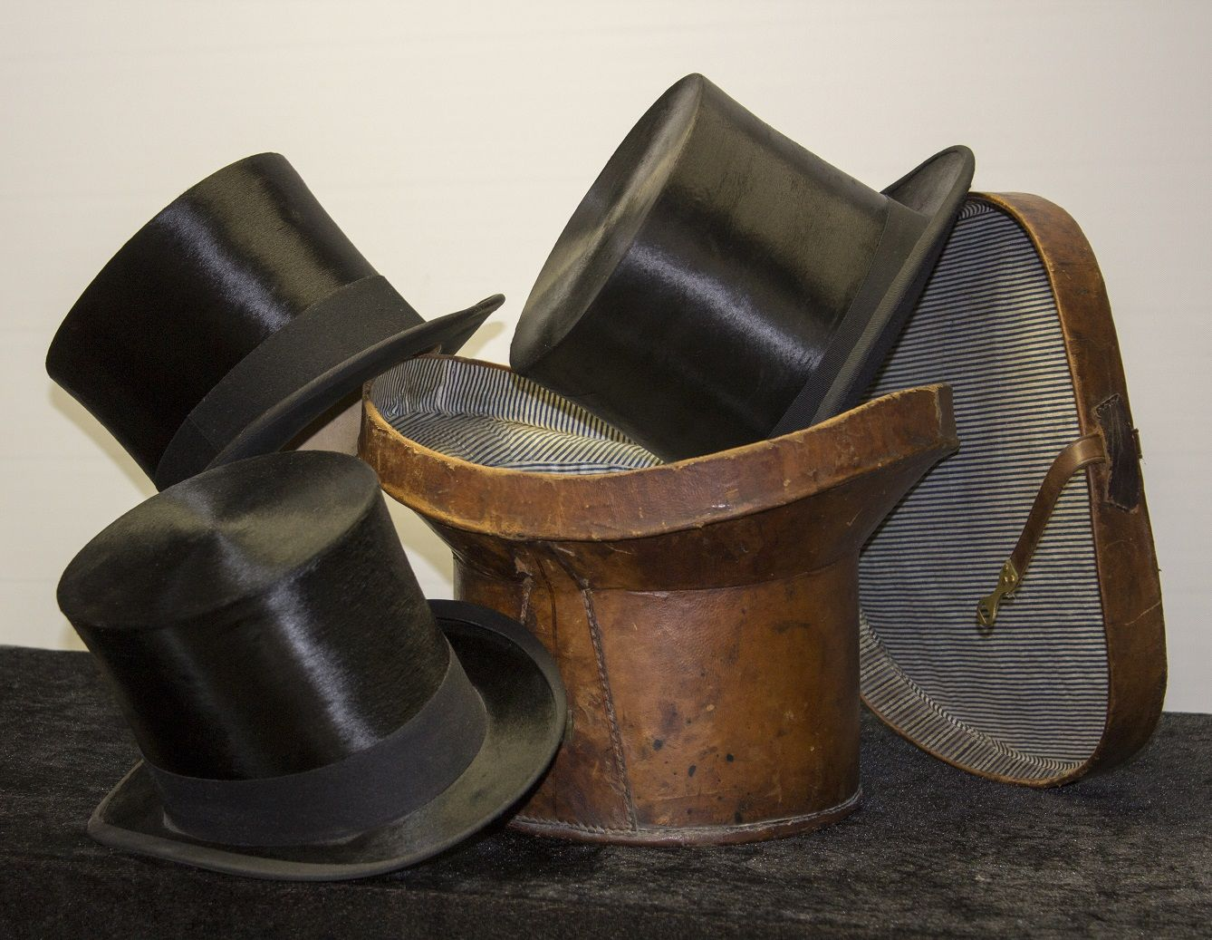 Black Tie specialise in the sale and restoration of antique silk top hats  and leather top hat boxes. Find your perfect hat for Royal Ascot! ccf0adc9a28