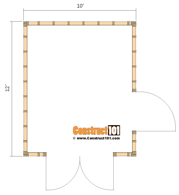 Shed Plans 10x12 With Gable Roof Plans Include A Free Pdf Download Step By Step Details Drawings Measurements 10x12 Shed Plans Shed Plans Diy Shed Plans