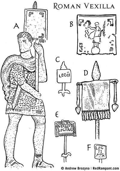 redrampant com  the vexillum  roman flag