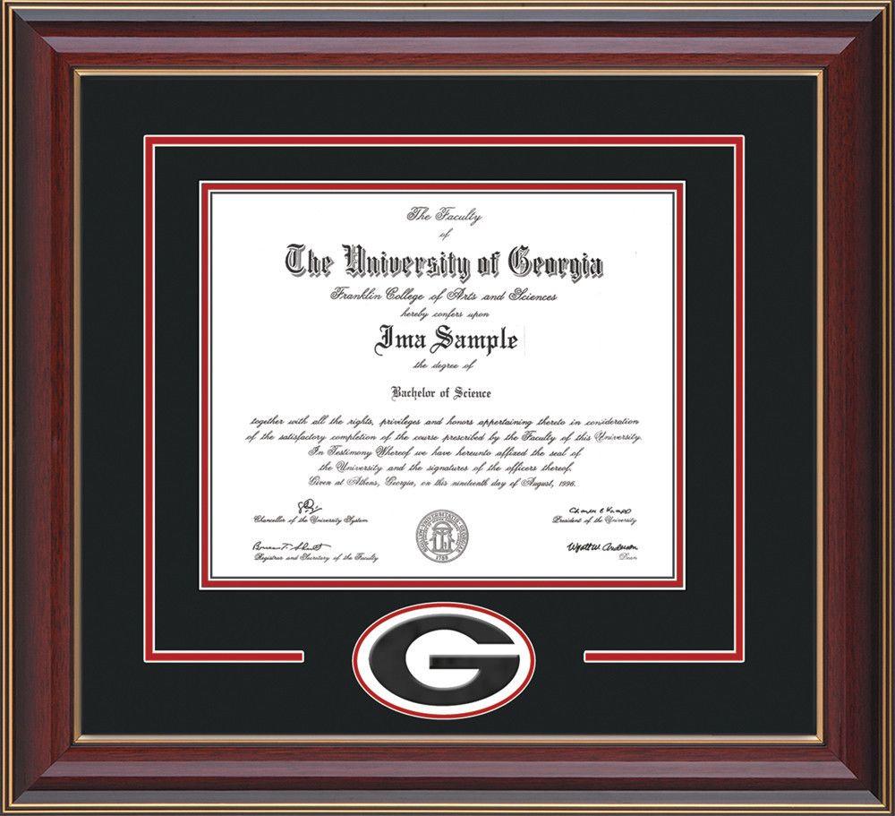 UGA Diploma Frame - C Lacquer -\
