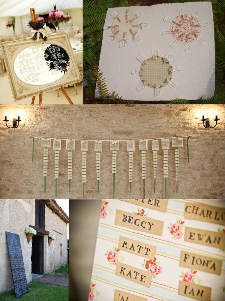Idée plan de table mariage original- 55 designs faciles à imiter ...