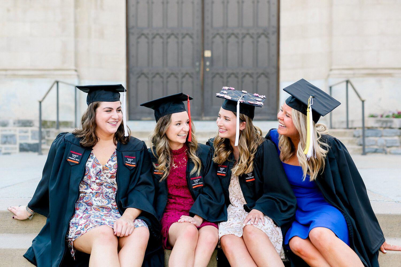 Classy Spring Graduation Senior Pictures At Virginia Tech In 2020 Senior Pictures Graduation Portraits Graduation Pictures