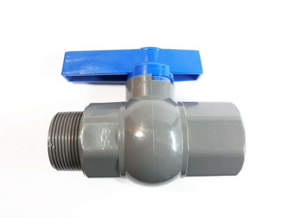 Pvc Ball Valve 1 1 2 Inch Npt Half Port Heavy Duty Durable For Irrigation Mf Unbranded Water Irrigation Irrigation Industrial Tap