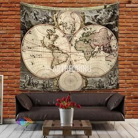 Antique world map wall tapestry vintage world map wall hanging antique world map wall tapestry vintage world map wall hanging vintage old map wall gumiabroncs Images