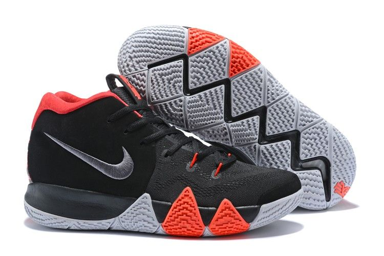 eff9a13ba788 2018 Nike Kyrie 4 Black-White Solar Red For Sale
