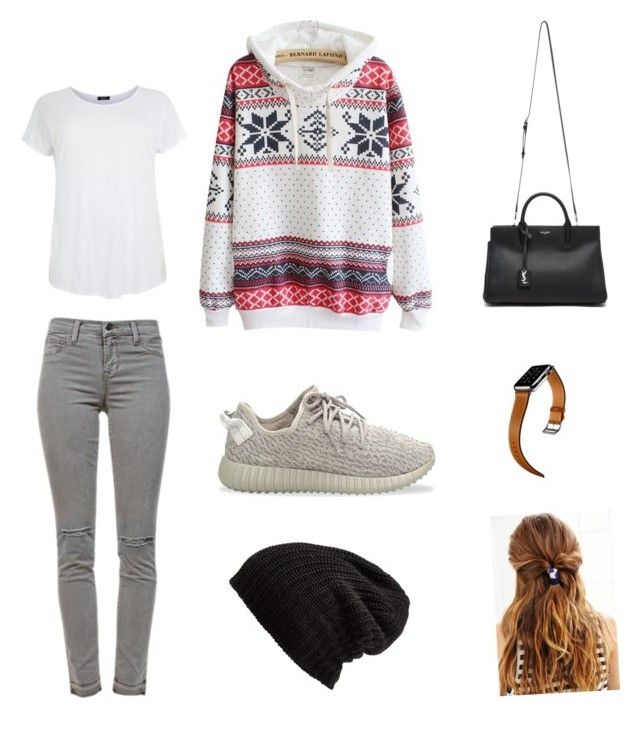 """Untitled #4"" by shakirajaim on Polyvore featuring J Brand, adidas Originals, Yves Saint Laurent, Free People and Hermès"