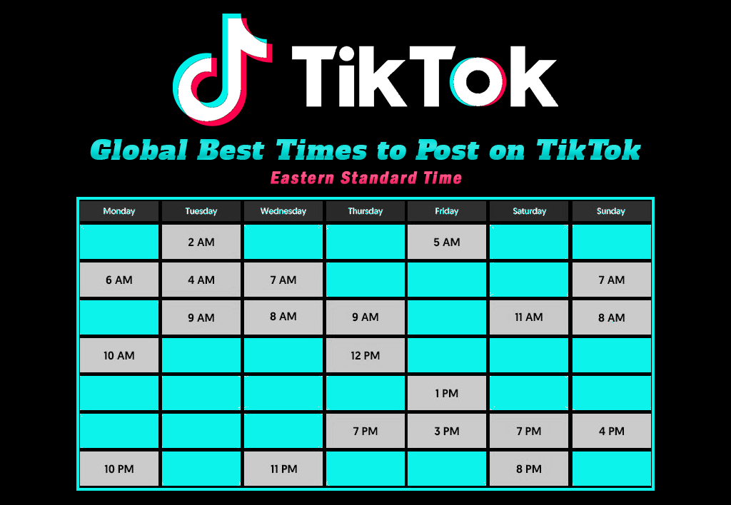 Best Times To Post On Tiktok Today 10pm Best Time To Post Social Media Posting Times Social Media Marketing Business
