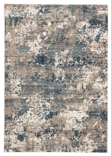 "Jaipur Living Intarsia Abstract Blue/ Gray Area Rug (4'X5'7"") - RUG141016"