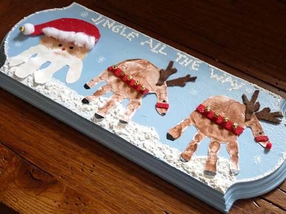 Christmas Handprint Plaque