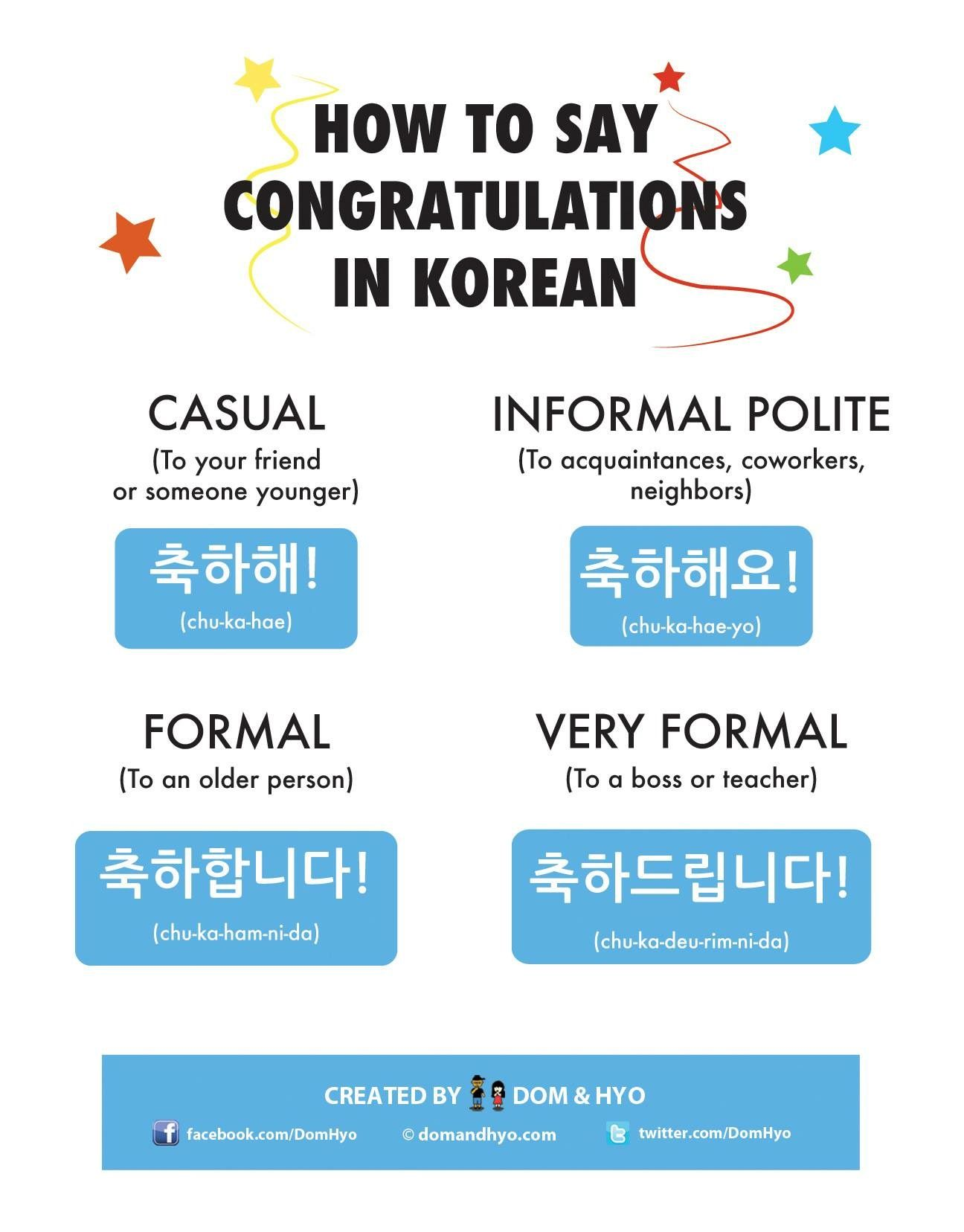 How to say congratulations in korean korean language
