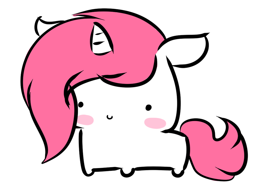 A Fluffy Little Chibi Unicorn Kawaii Dessin Kawaii Et