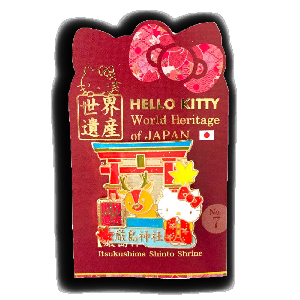 ハローキティ ピンバッチ 世界遺産 厳島神社(Japanese Hello Kitty Pins)