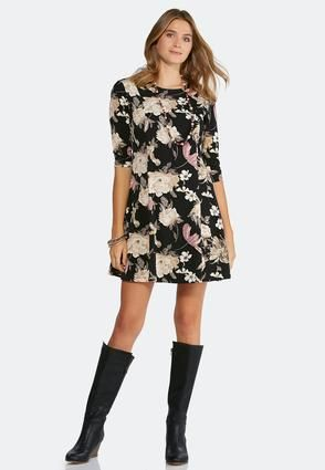 Cato Fashions Plus Size Floral Fit And Flare Dress Catofashions