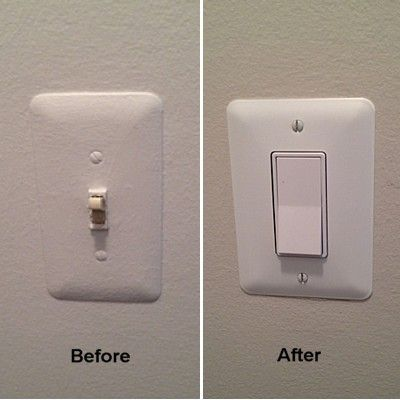 Replace An Old Wall Switch With A Stylish Rocker Switch