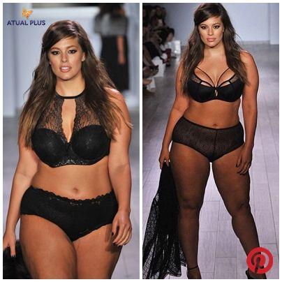 f8e5fc5c0 CURVAS REAIS - Modelo plus-size Ashley Graham rouba atenção na New York  Fashion Week