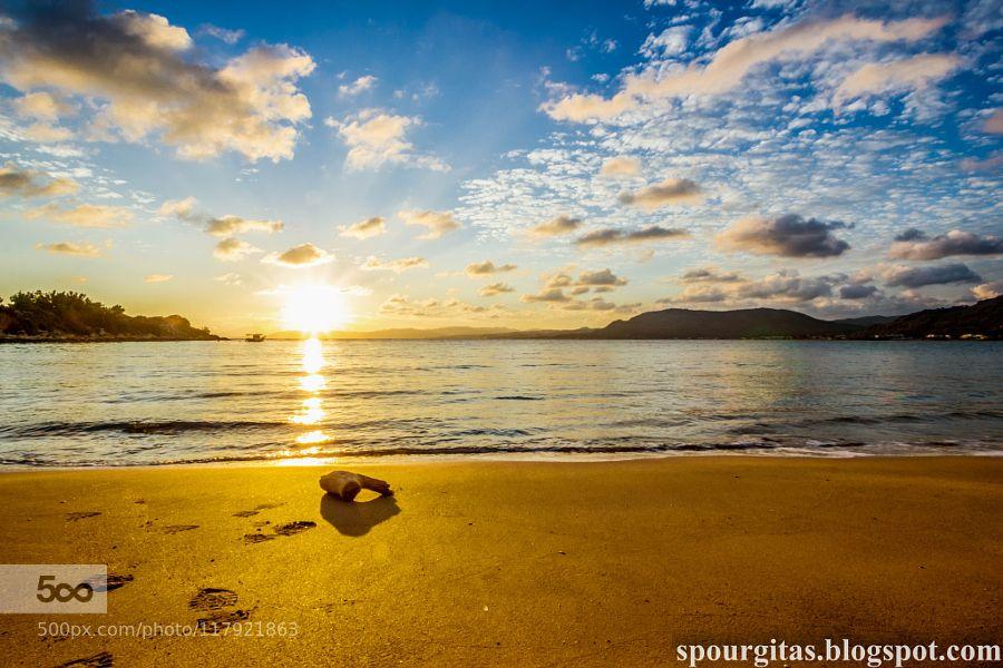 sunset in Pefkos by iliasanthitsas. Please Like http://fb.me/go4photos and Follow @go4fotos Thank You. :-)
