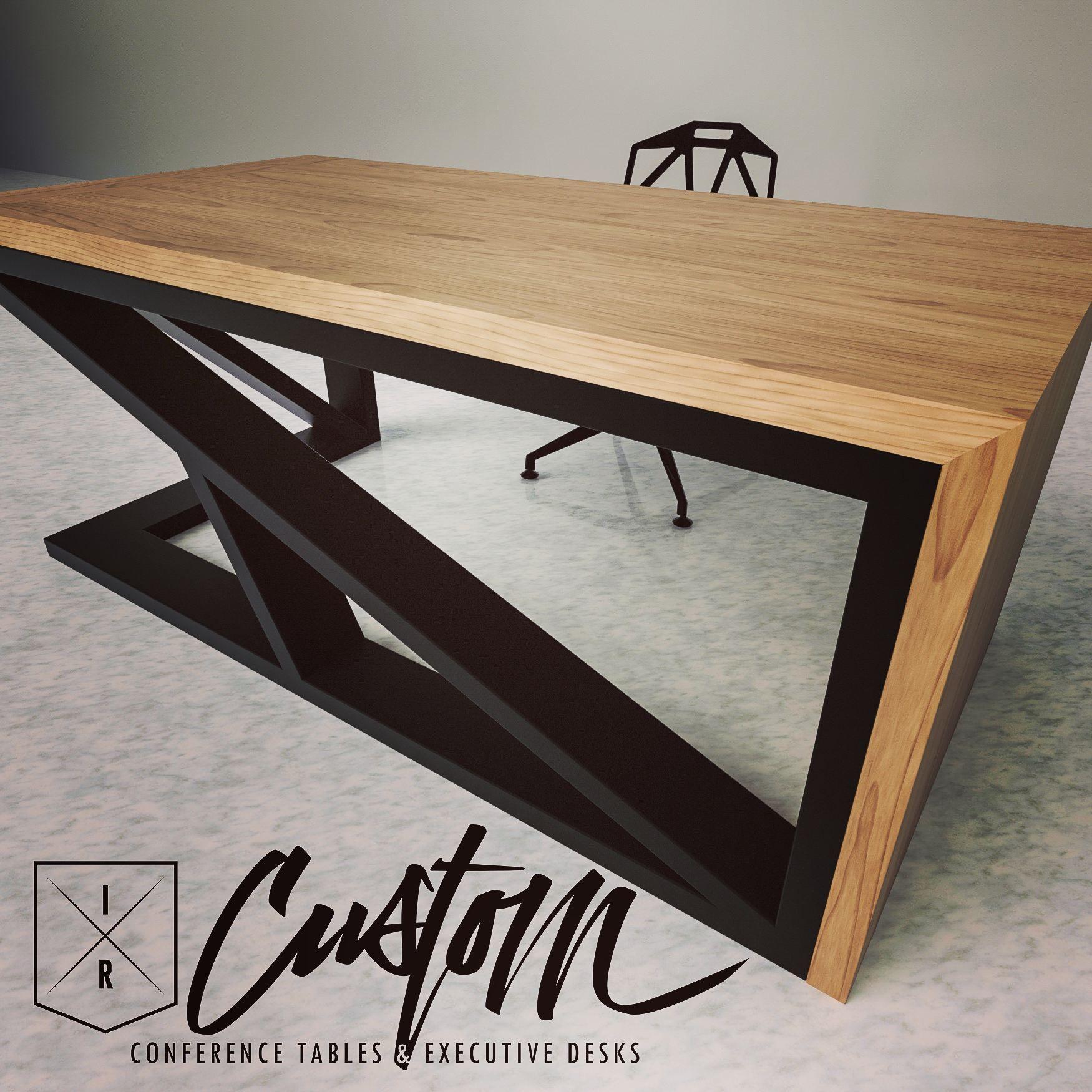 Custom Steel Hardwood Desks Ircustom Com Meuble Fer Et Bois Mobilier De Salon Meuble Bois Metal