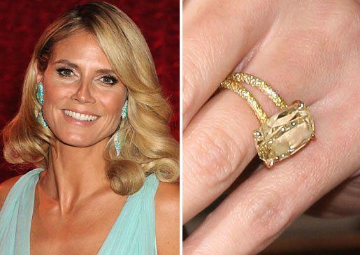 Heidi Klum Canary Yellow Diamond engagement ring Bling