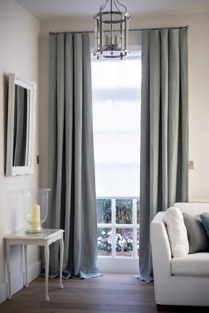 How To Complete A Room With Elegant Sheer Blinds Provide Privacy And Light Shading Roller Blind Grey Linen Curtains At Living Window