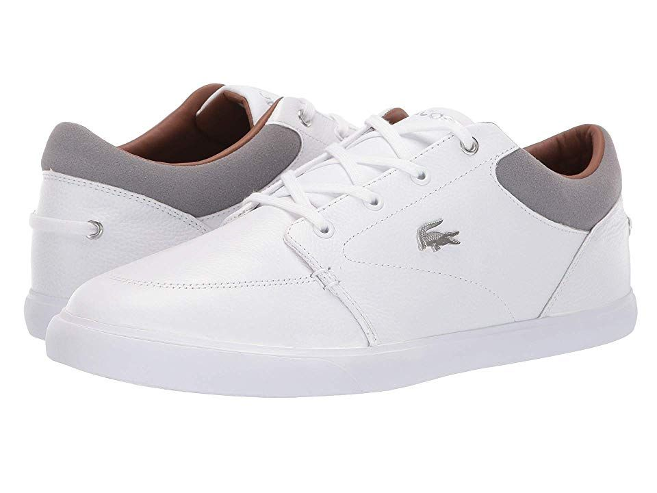 5fd598a81 Lacoste Bayliss 118 1 U (White Grey) Men s Shoes. The Lacoste Bayliss 118 1  U is athletic in feel and stylish enough for everyday wear.