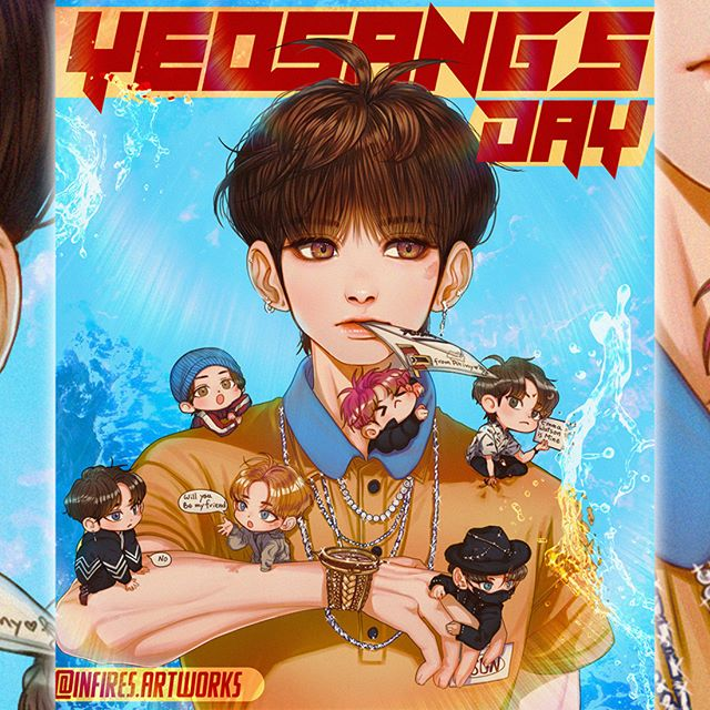 """cant see DMs Ive no phone na Instagramie: """"a late birthday gift for @ateez_official_ 's Yeosang 💛💛💛💛 #ATEEZ_OneToAll #ATEEZ #에이티즈 #여상 #YEOSANG #ATEEZfanart #ATEEZ_ASC"""""""