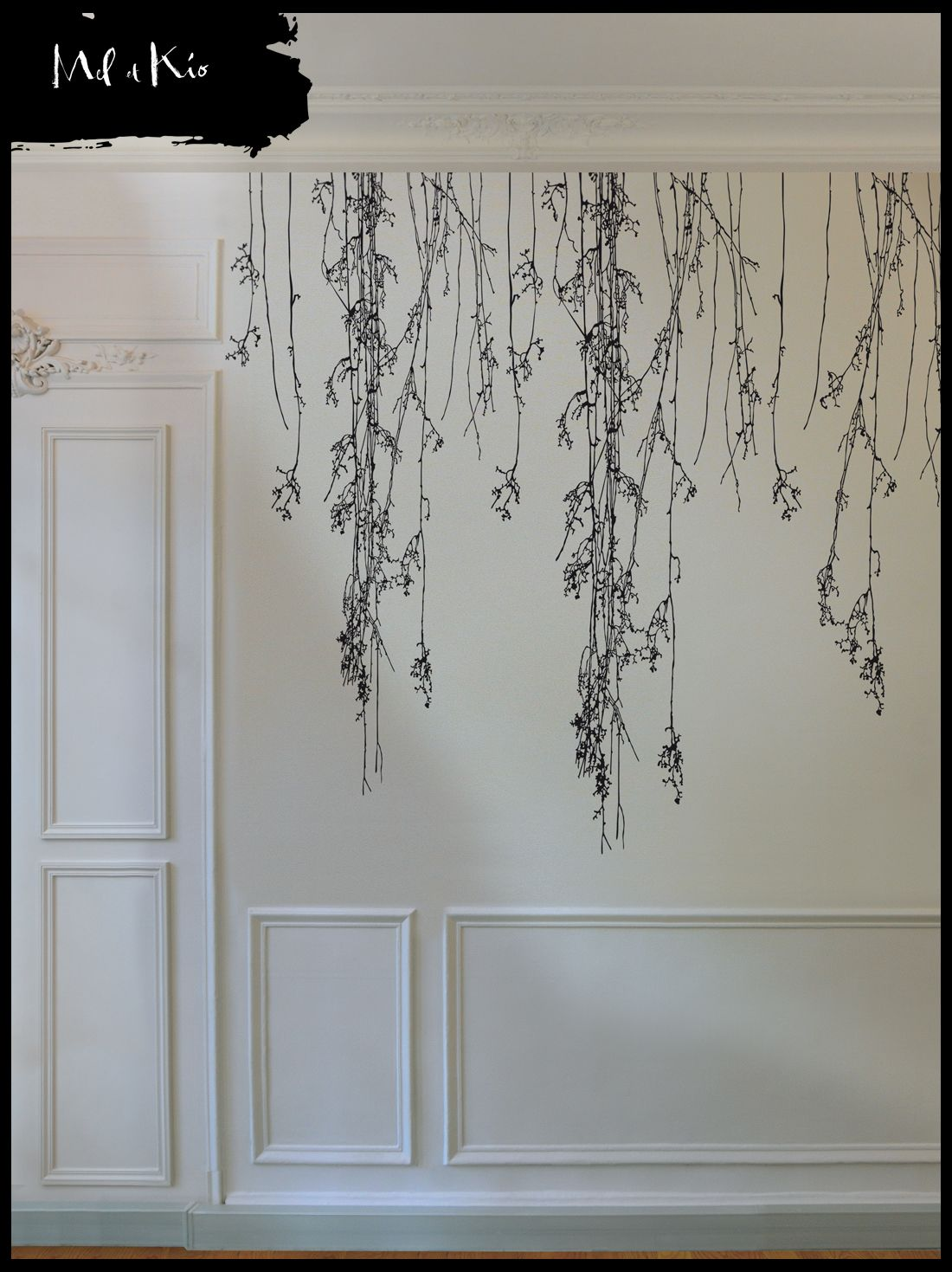 Sticker Mural Haut De Gamme Grand Format Murmures © U0026 Variations « Sonate  Du0027hiver » (Composition XL) « Poetic Wall